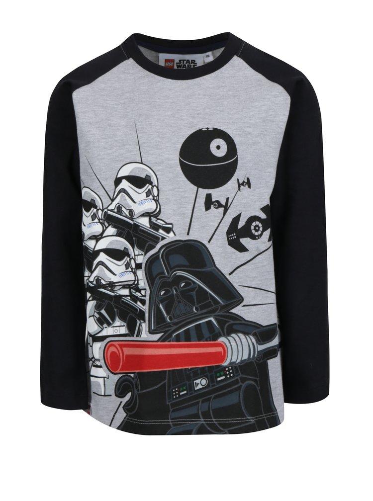 Černo-šedé klučičí tričko s potiskem Lego Wear