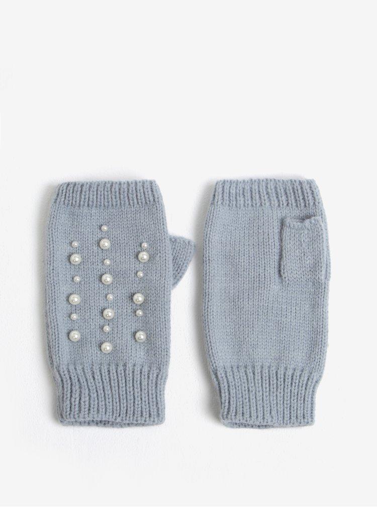 Šedé bezprstové rukavice Miss Selfridge