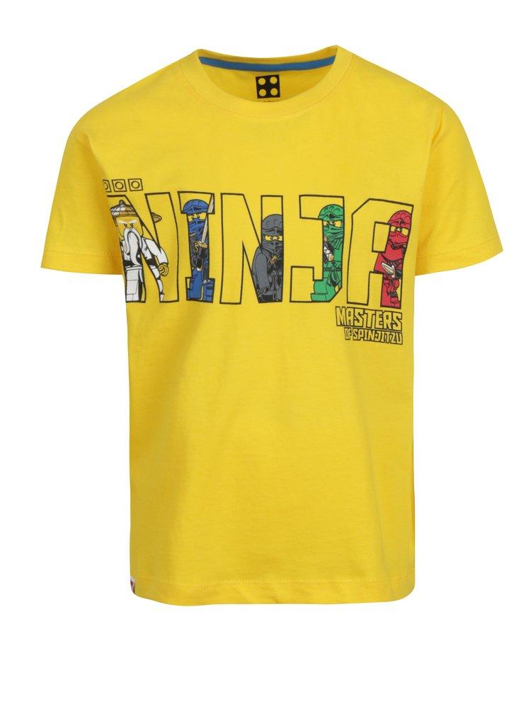 Žluté klučičí tričko s krátkým rukávem a potiskem Lego Wear