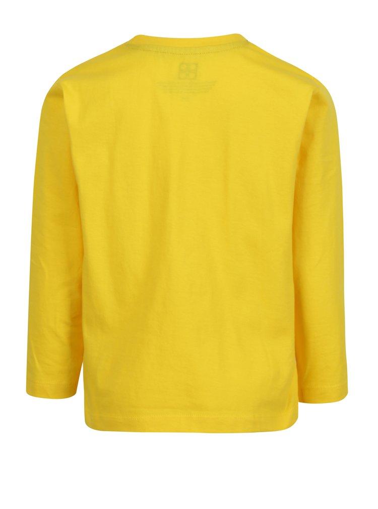 Žluté klučičí tričko s potiskem a dlouhým rukávem Lego Wear
