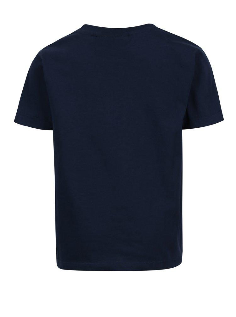 Tmavě modré klučičí tričko s potiskem a krátkým rukávem Lego Wear