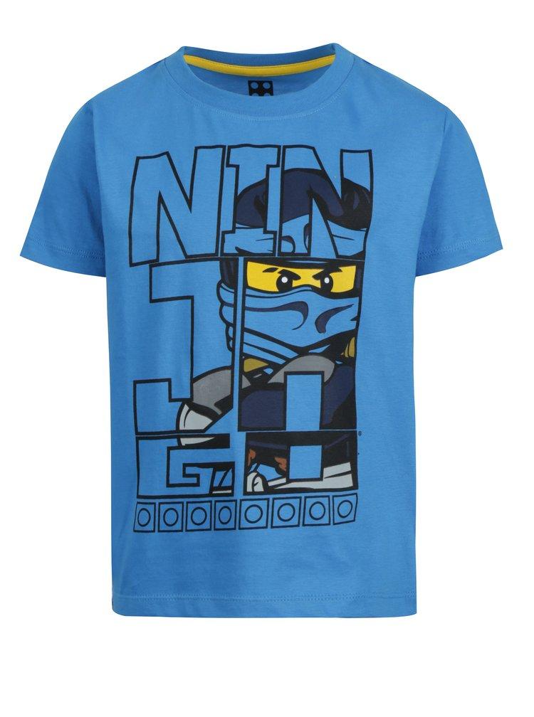 Modré klučičí tričko s krátkým rukávem a potiskem Lego Wear