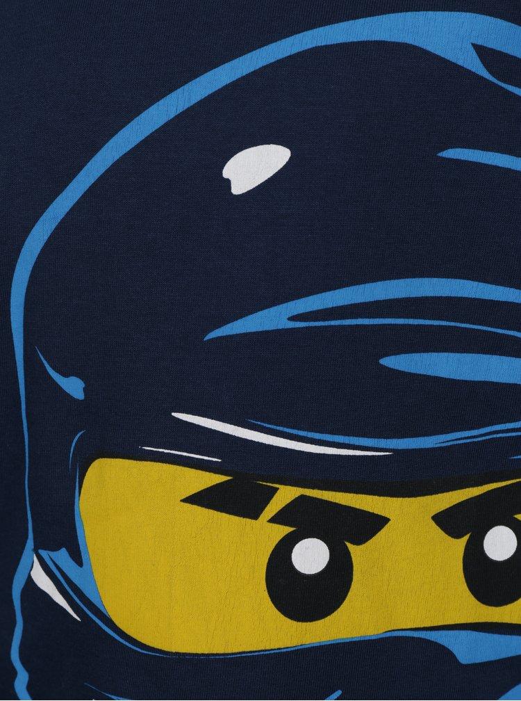 Tmavě modré klučičí tričko s dlouhým rukávem a potiskem Lego Wear