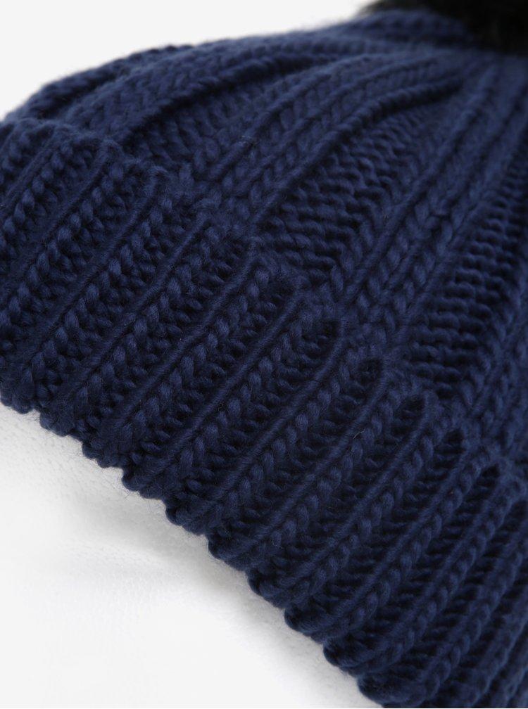 Tmavě modrý kulich s bambulí M&Co