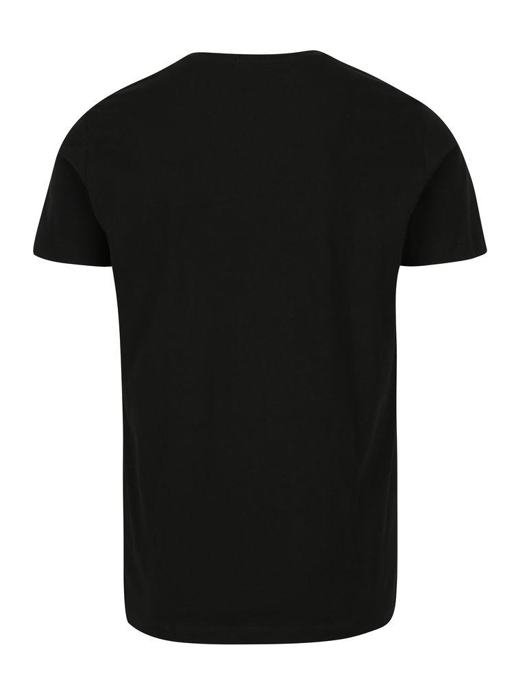 Černé pánské slim fit tričko Calvin Klein Jeans Treasure