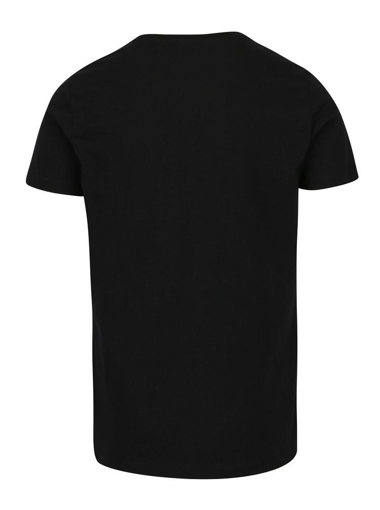 Černé pánské tričko s výšivkou Calvin Klein Jeans Bron