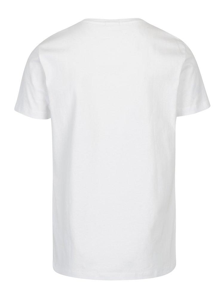 Bílé pánské tričko s výšivkou Calvin Klein Jeans Bron