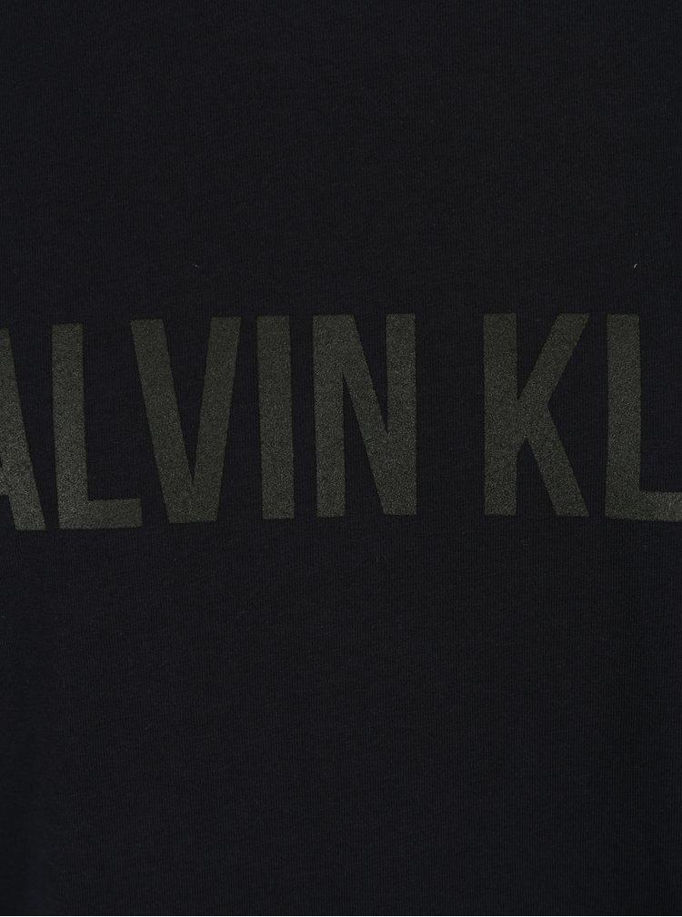 Tmavě modré pánské tričko s černým potiskem Calvin Klein Jeans Tao