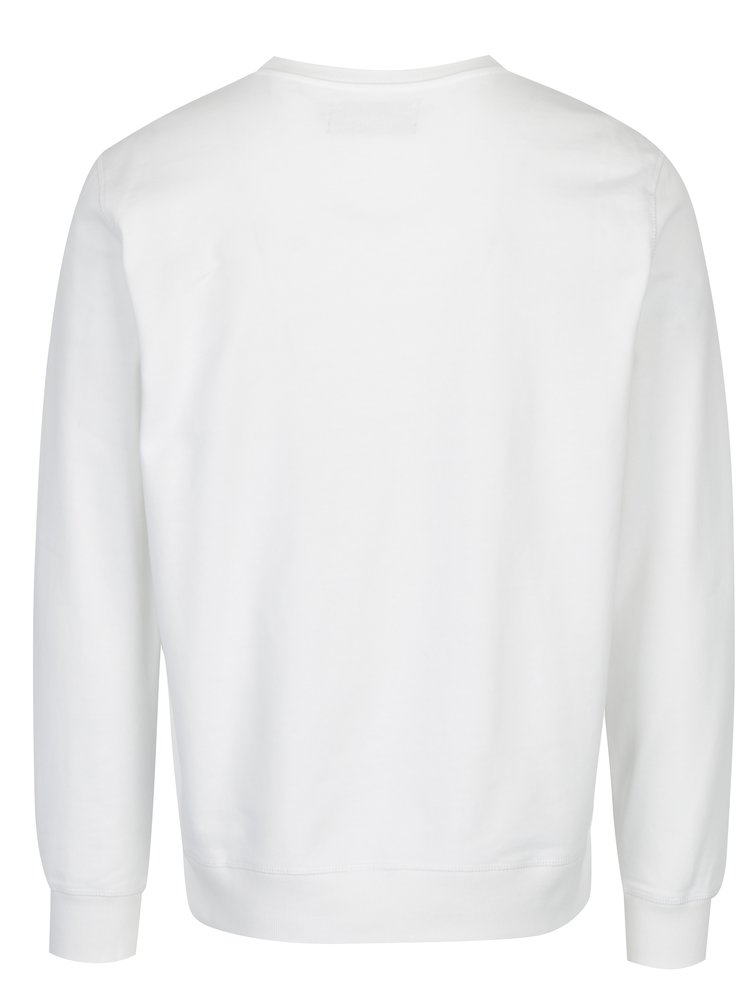Bílá pánská mikina s výšivkou Calvin Klein Jeans Hasto