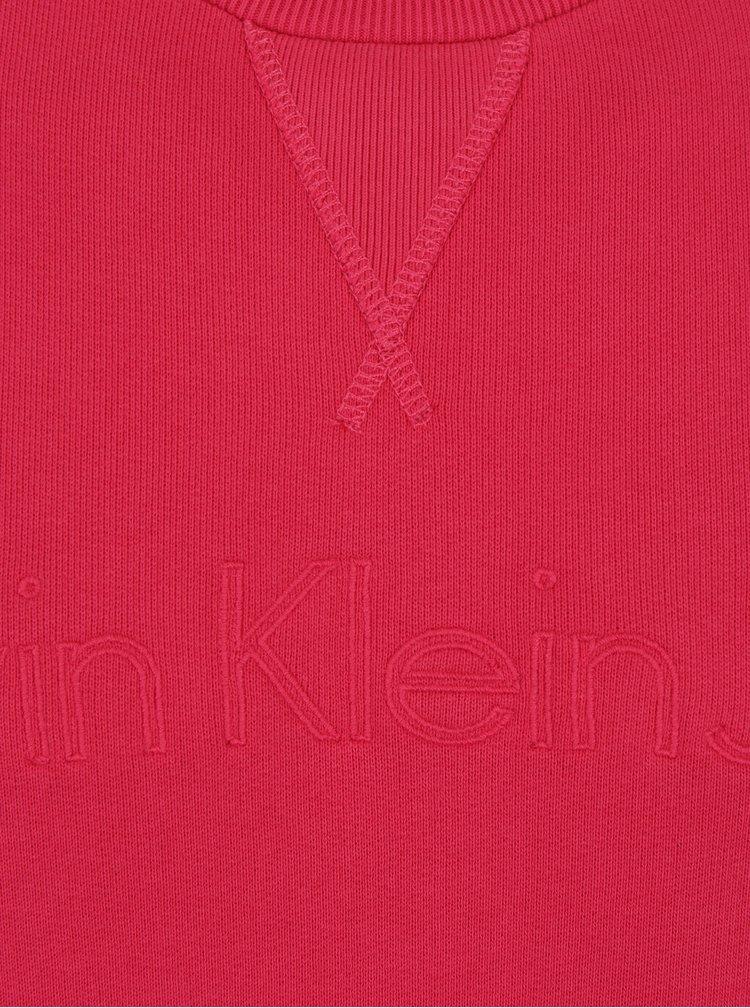 Růžová pánská mikina s výšivkou Calvin Klein Jeans Harpo