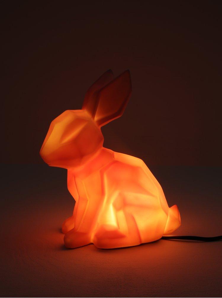 Růžová lampa ve tvaru králíka Disaster