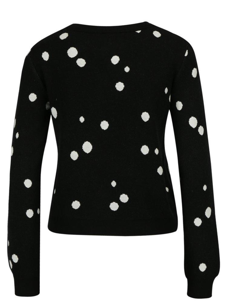 Černý crop svetr Miss Selfridge