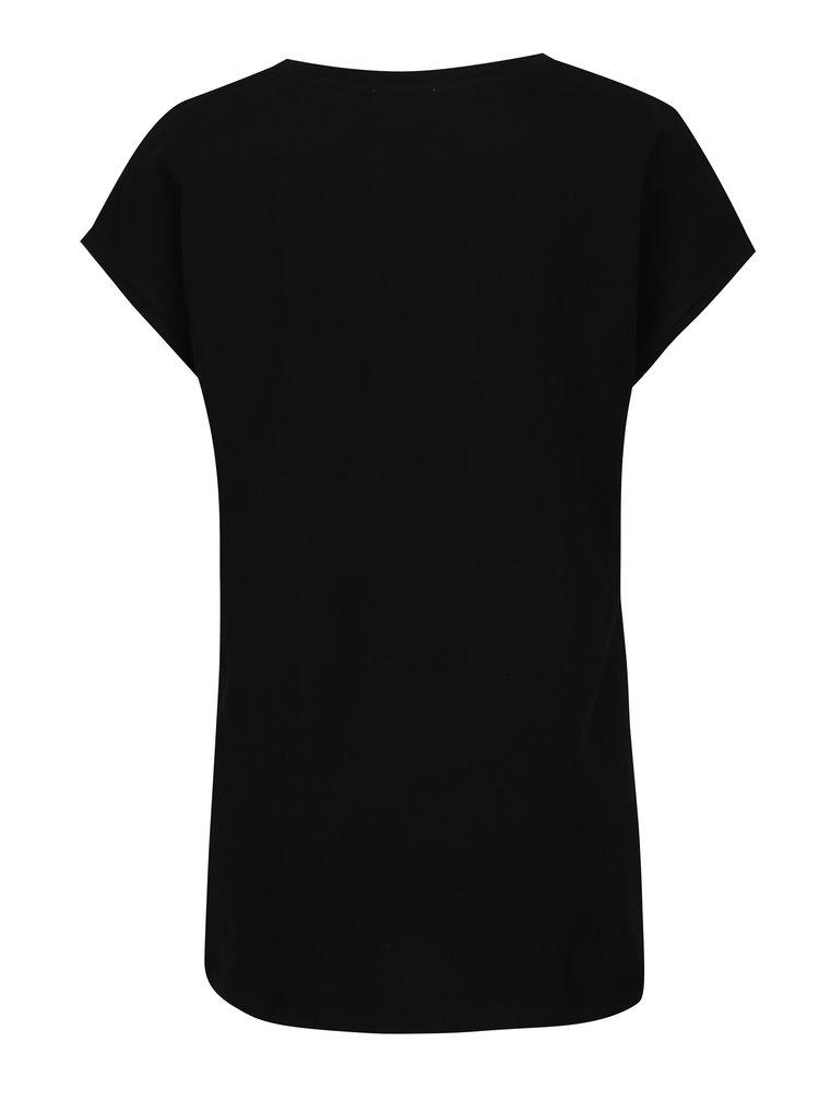 Černé dámské tričko s potiskem Calvin Klein Jeans Tika