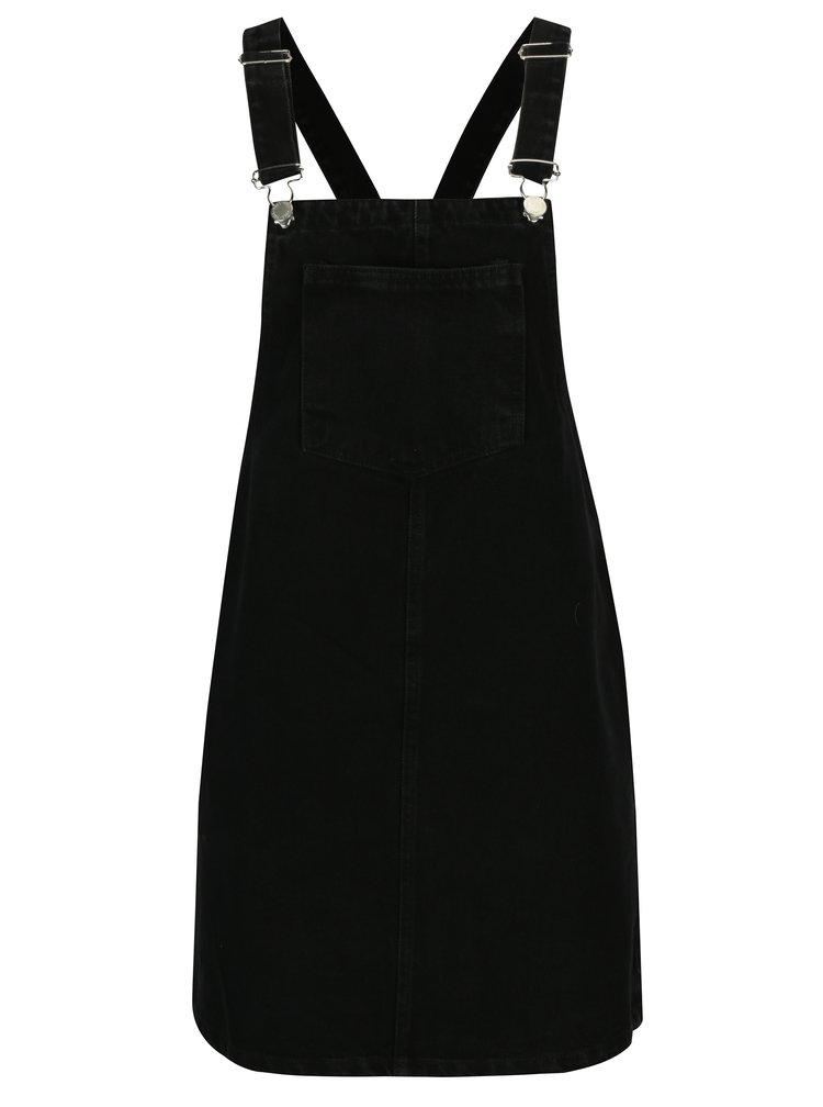 Černé džínové šaty s laclem Miss Selfridge
