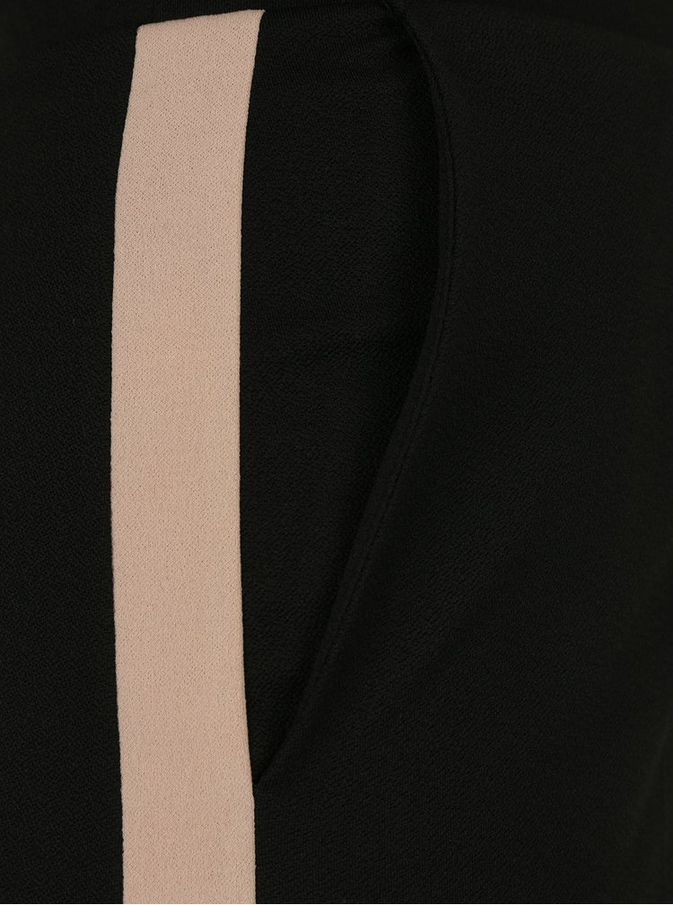 Černé volné kalhoty s vysokým pasem Miss Selfridge