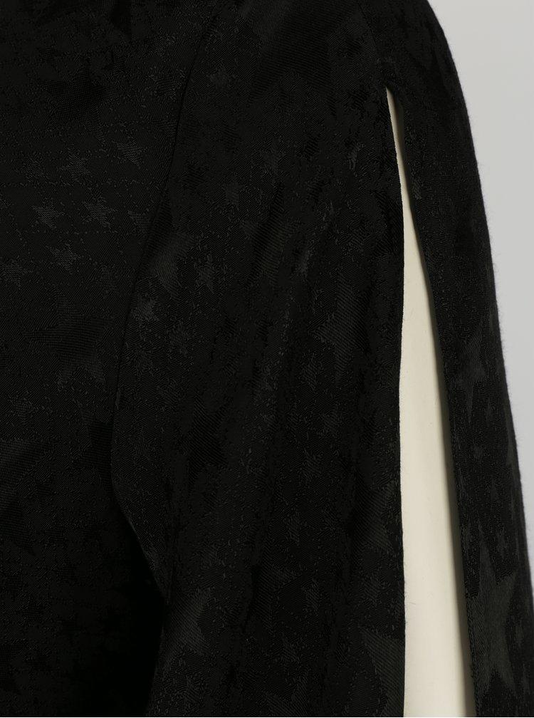 Rochie neagra cu maneci clopot si terminatie asimetrica - Miss Selfridge