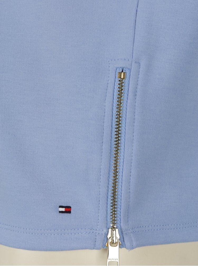 Světle modrá dámská oversize mikina s průstřihy Tommy Hilfiger