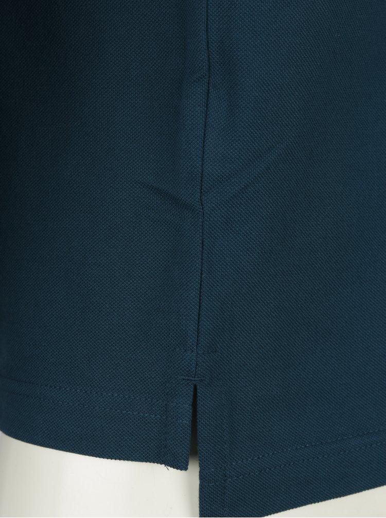 Petrolejové pánské slim fit polo tričko Tommy Hilfiger Tommy