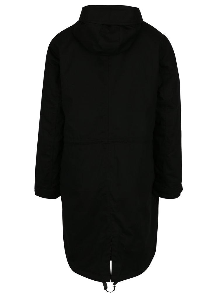Geaca parka neagra cu jacheta bomber adidas Originals