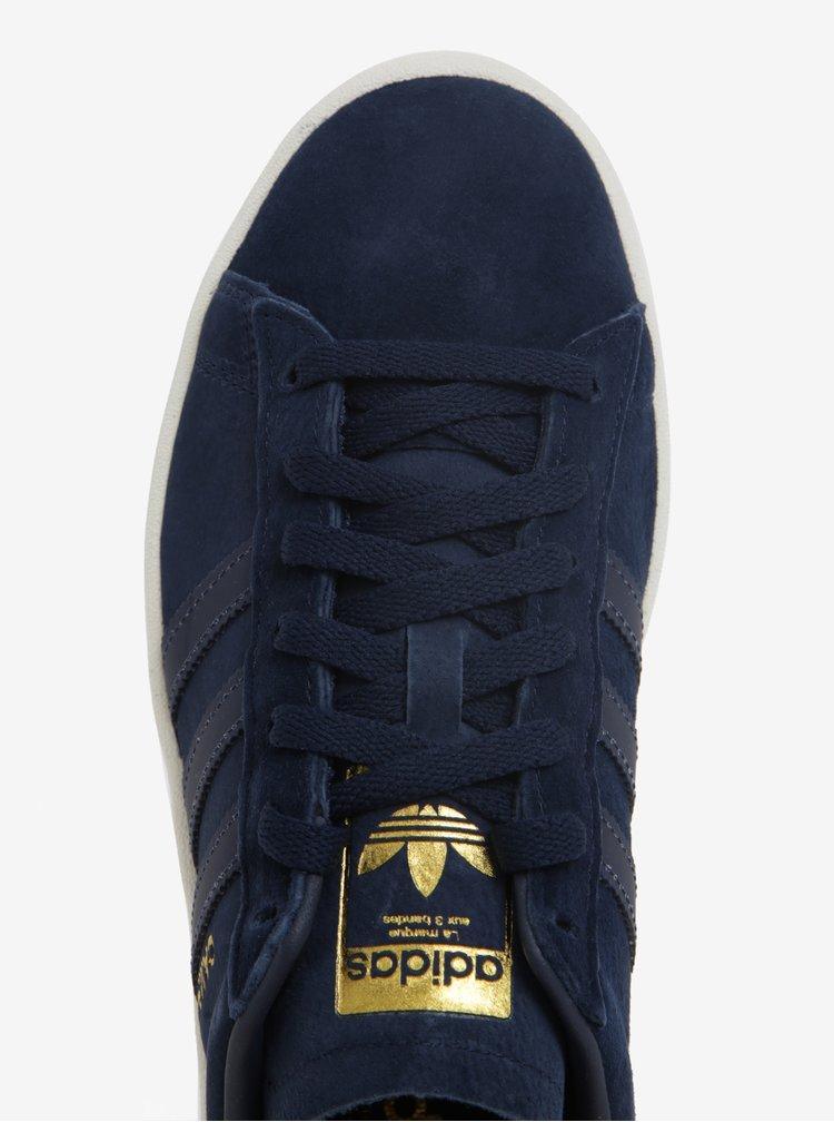 Tmavě modré pánské semišové tenisky adidas Originals Campus