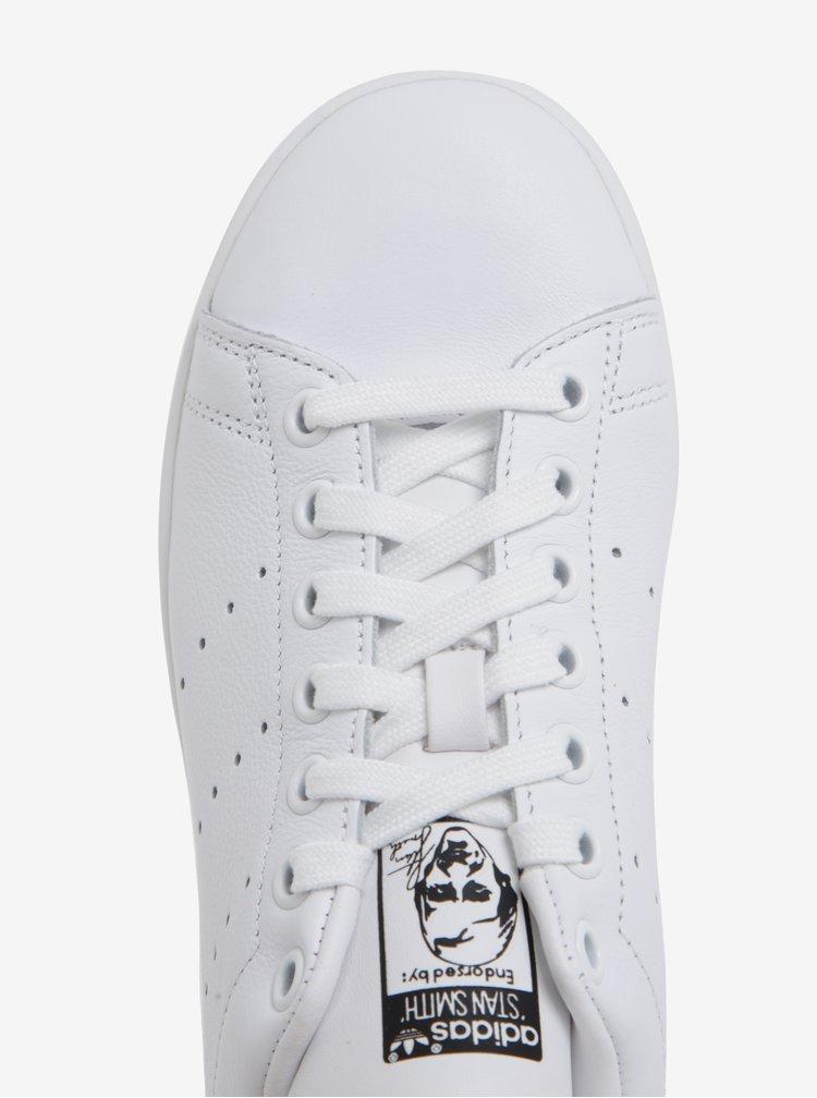 Bílé dámské kožené tenisky s barevným detailem adidas Originals Stan Smith