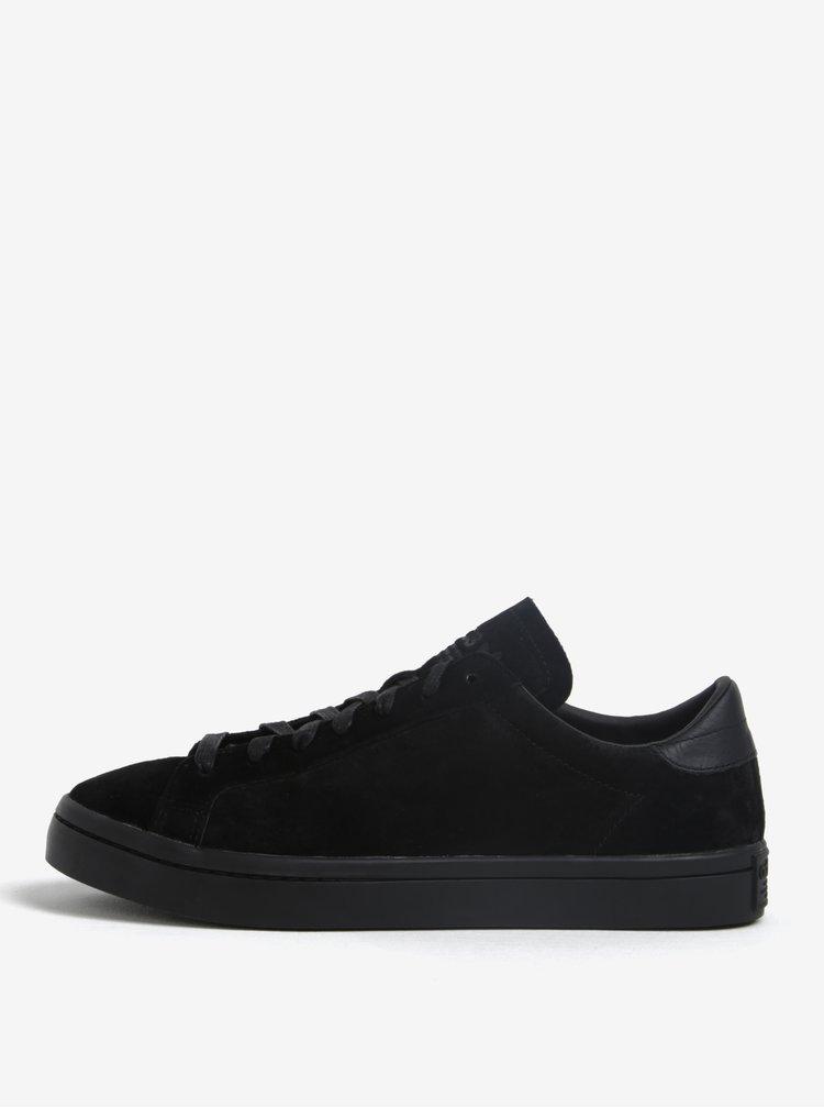 Černé pánské semišové tenisky adidas Originals Courtvantage