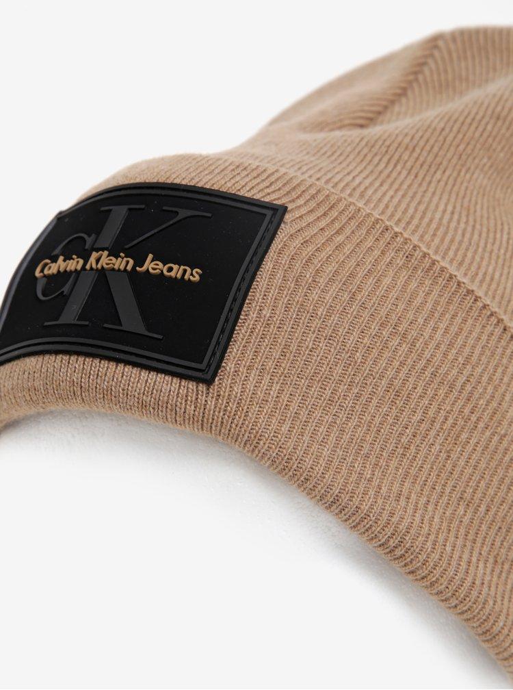 Béžová pánská čepice Calvin Klein Jeans Re-issue