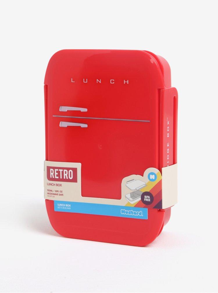 Cutie rosie pentru mancare in forma de frigider - Mustard