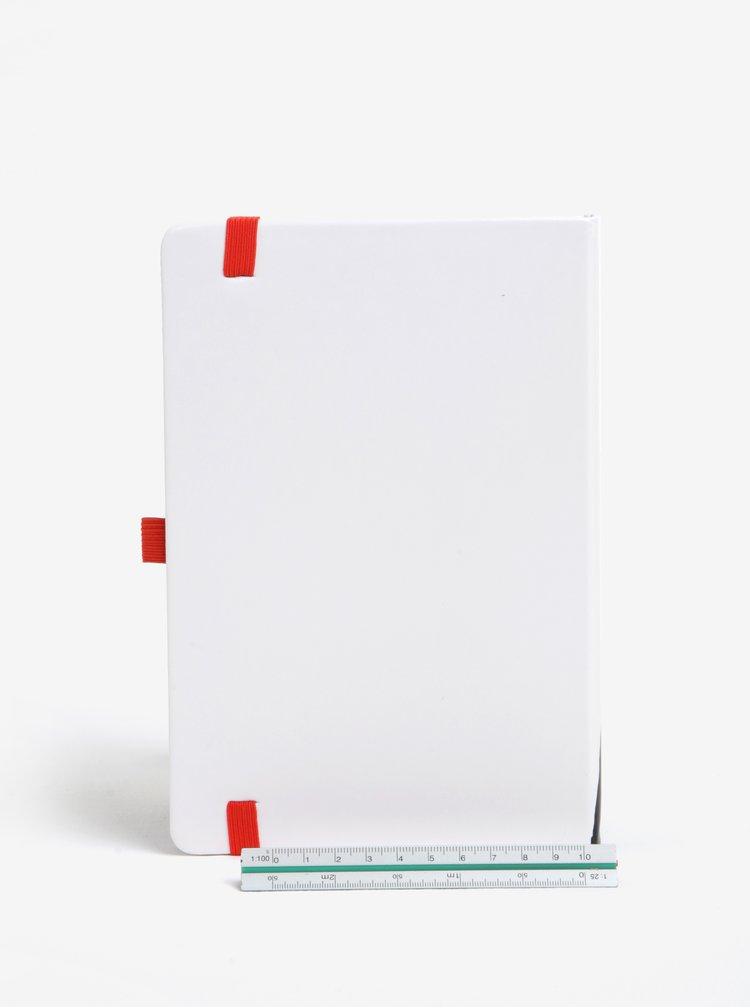 Carnet A5 cu pagini punctate si print buldog francez - Mustard