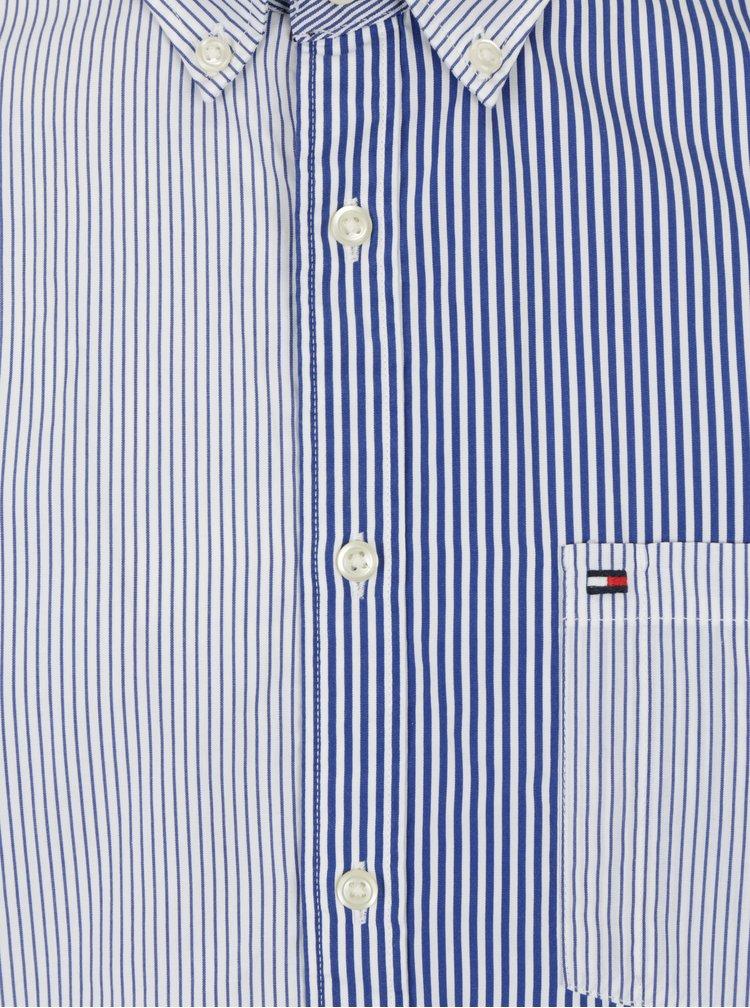 Bílo-modrá pánská pruhovaná regular fit košile Tommy Hilfiger Mixed