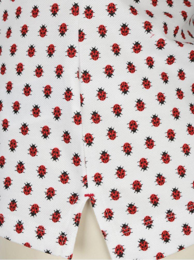 Bílé dámské slim fit polo tričko s motivem berušek Tommy Hilfiger New Chiara
