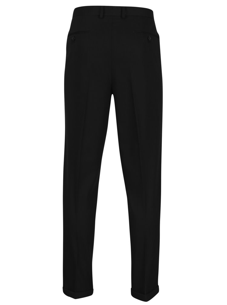 Pantaloni negri cu model discret - Selected Homme Tapered