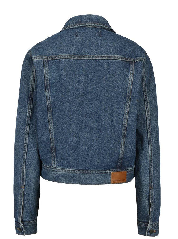 Tmavě modrá dámská džínová bunda Calvin Klein Jeans Rocket