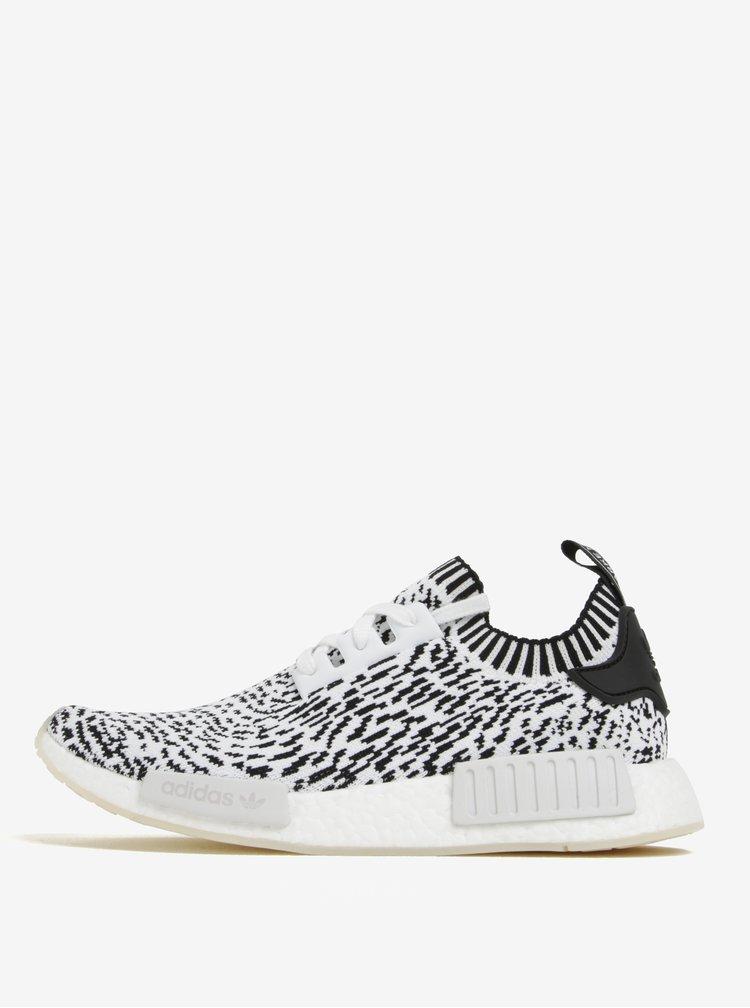 Černo-bílé pánské vzorované tenisky adidas Originals NMD_R1