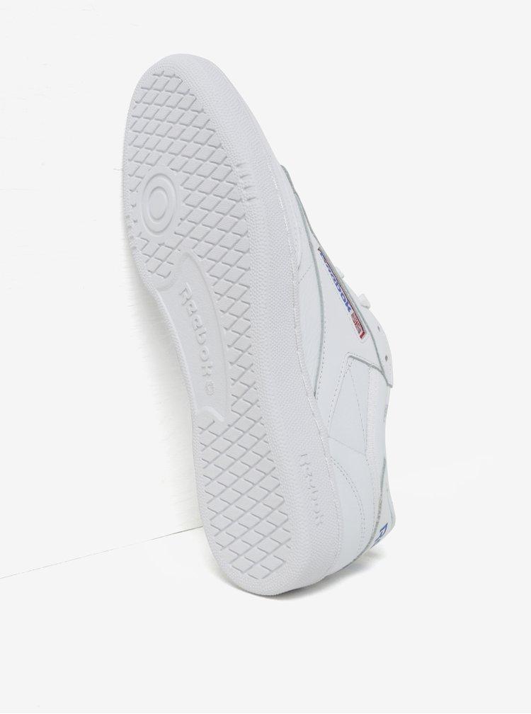 Bílé pánské kožené tenisky Reebok CLUB C 85 SO