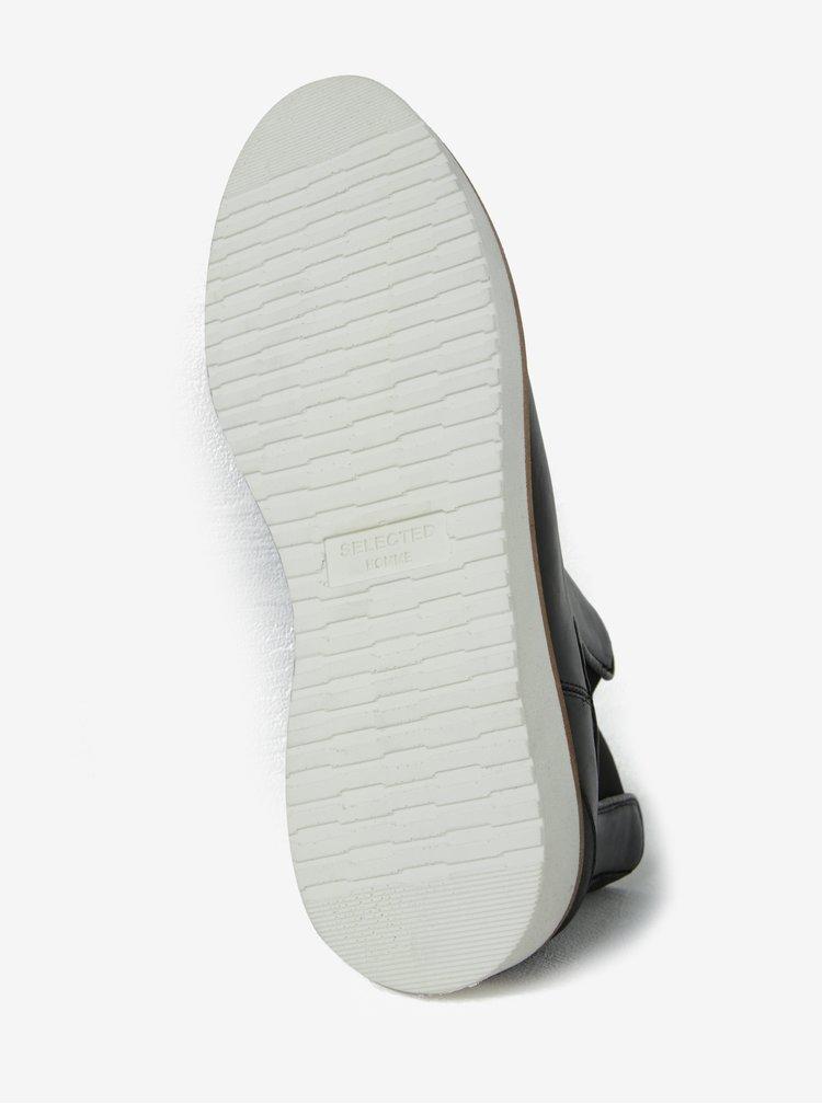 Černé kožené chelsea boty Selected Homme Rud