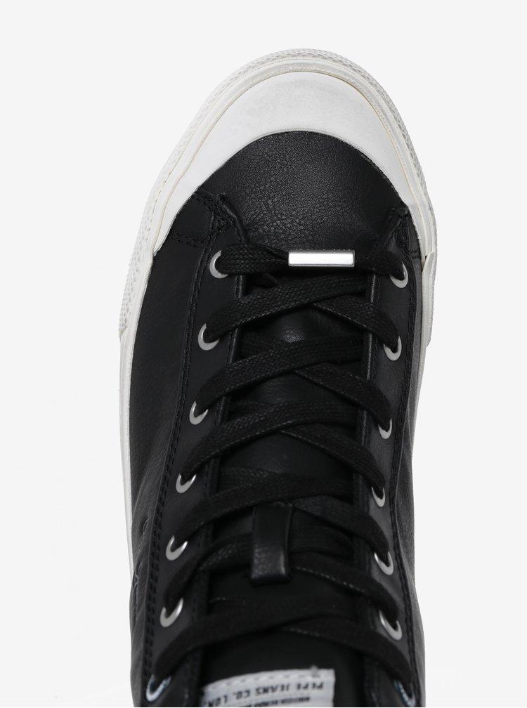 Černé pánské kotníkové tenisky Pepe Jeans New Brother