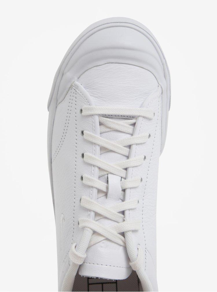 Pantofi albi din piele cu logo Nike All Court 2 Low