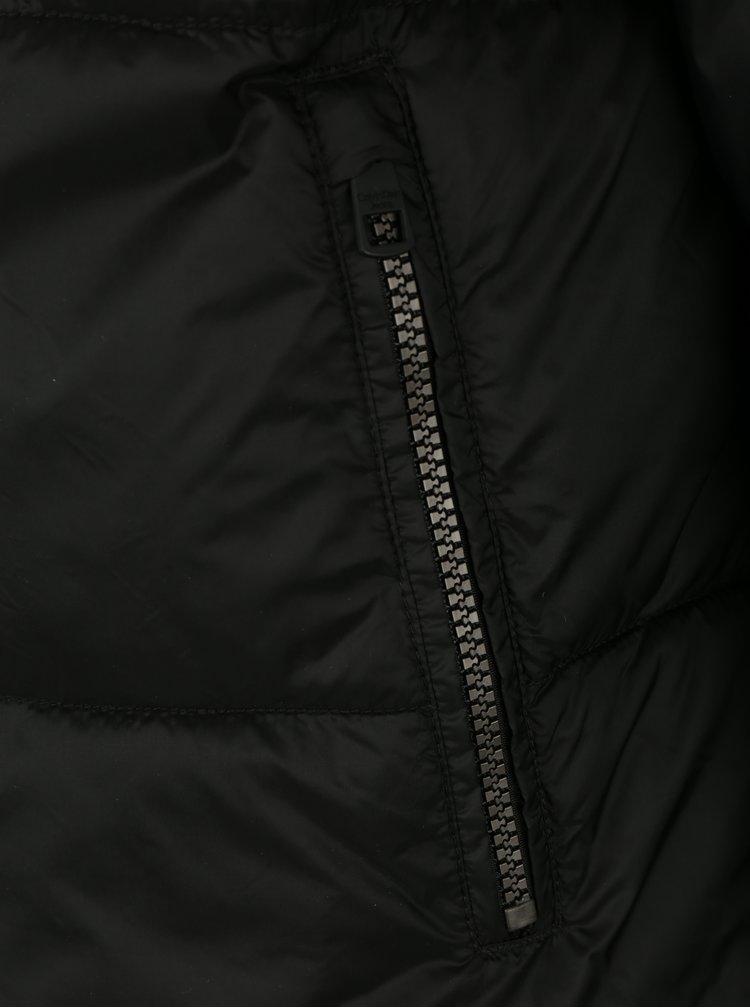 Černá pánská bunda s odepínatelnou prošívanou vestou Calvin Klein Jeans