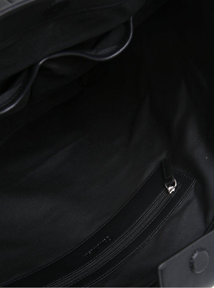 Černý shopper s prošívanými detaily Calvin Klein Jeans Michelle