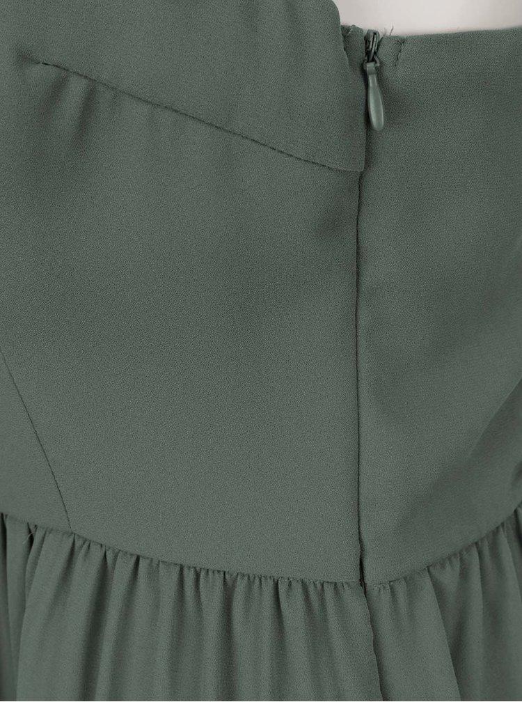 Khaki šaty s krajkovými detaily ONLY Raya