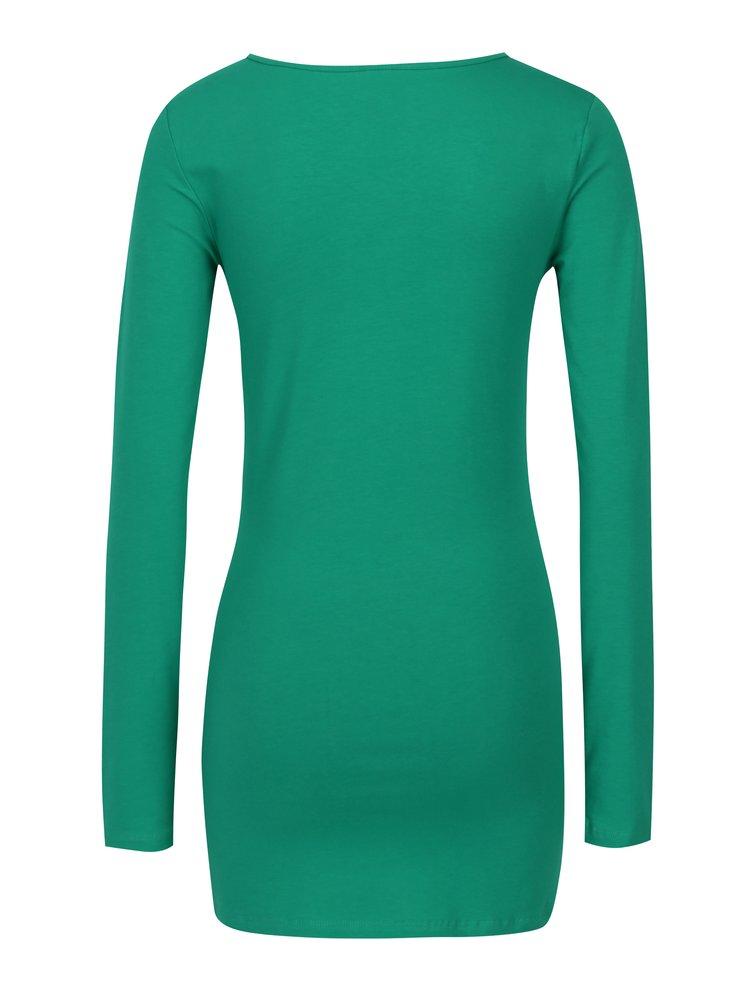 Bluza verde basic lunga - VERO MODA Maxi My