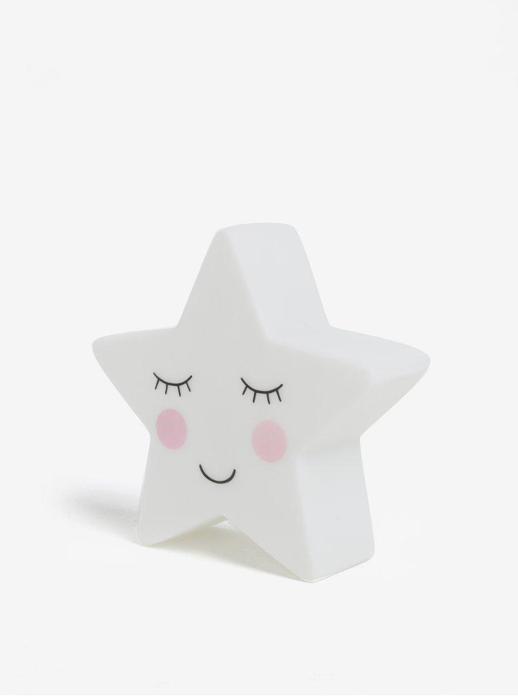 Bílá noční lampička ve tvaru hvězdy Sass & Belle