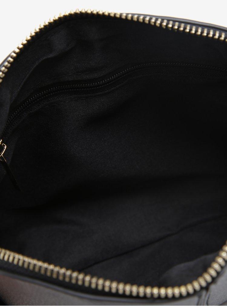 Černá crossbody kabelka se zipem ve zlaté barvě Dorothy Perkins