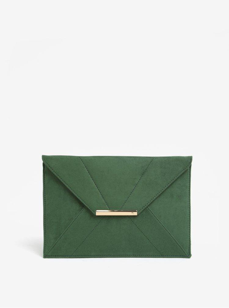 Geanta plic verde cu inchidere magnetica - Dorothy Perkins
