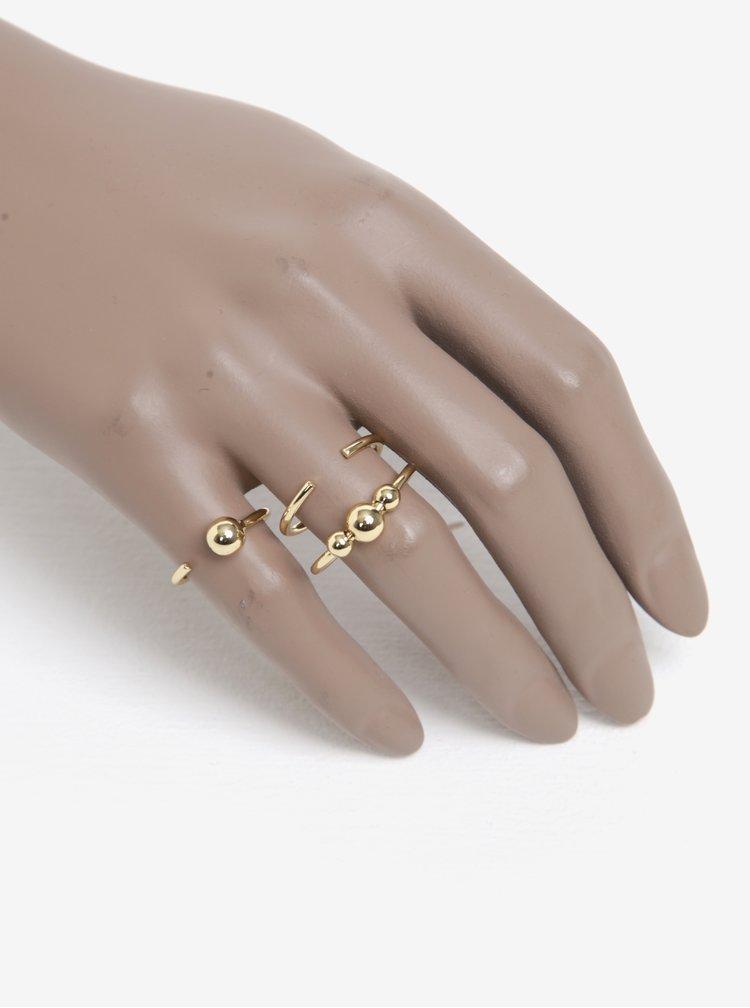 Set de 3 inele aurii - Pieces Luna