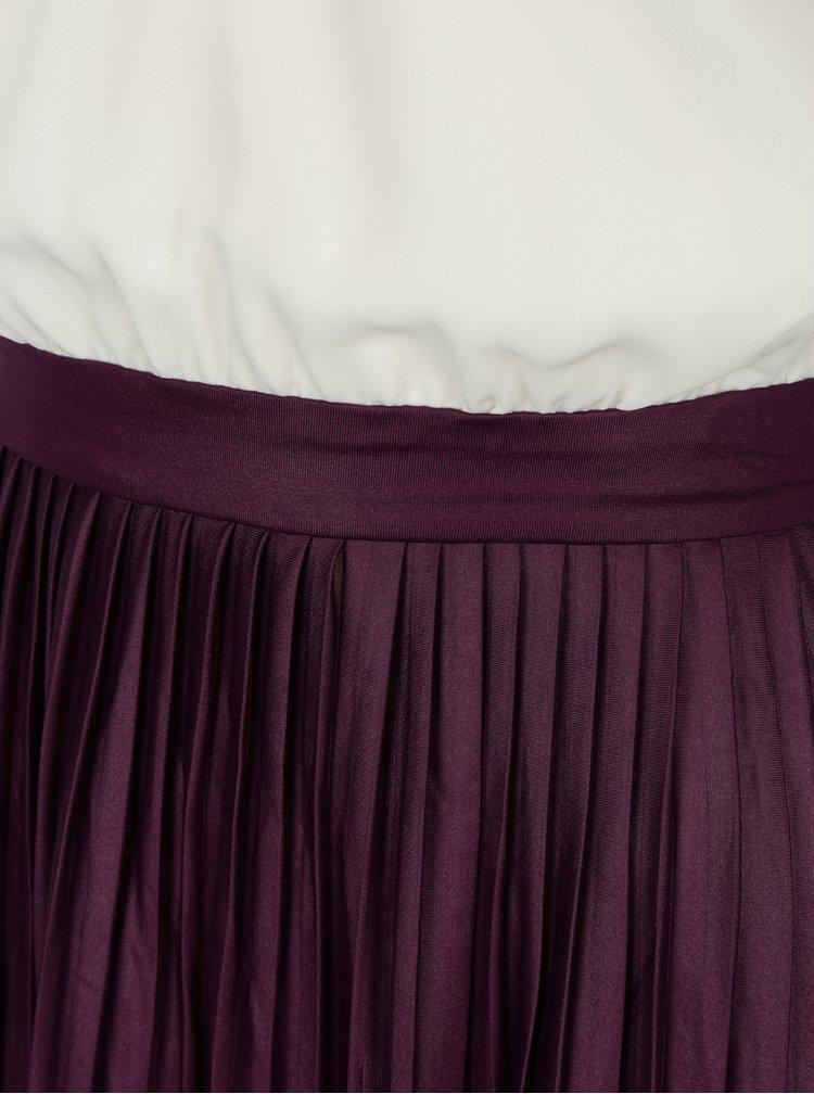 Rochie crem&violet cu pliuri AX Paris