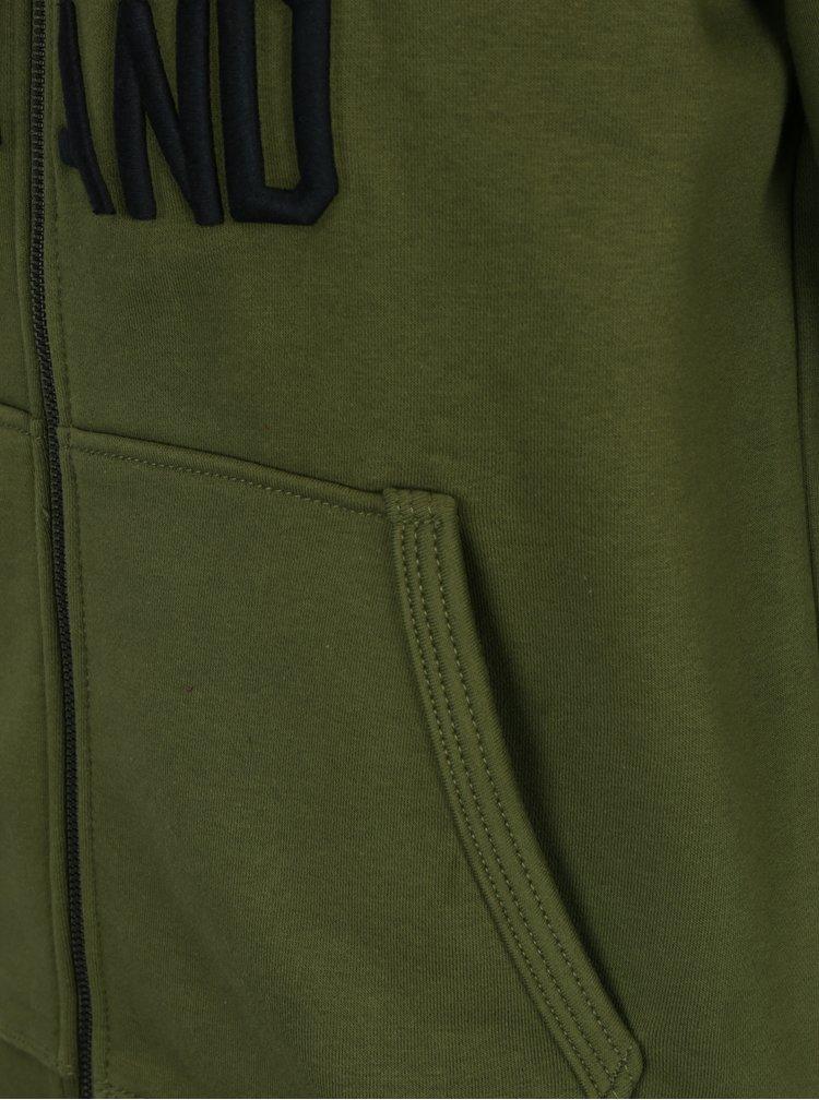 Zelená pánská mikina s kapucí s.Oliver