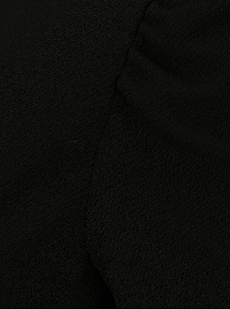 Černé šaty s nabíraným rukávem Dorothy Perkins
