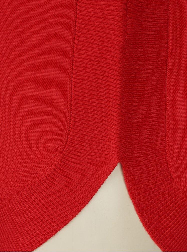 Pulover rosu cu terminatii rotunde pentru femei s.Oliver